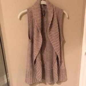 Beige vest, cute over long sleeve tops and dresses